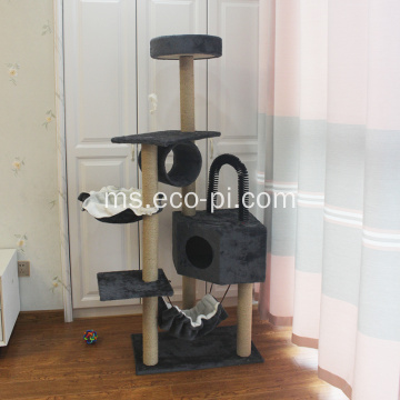 Kediaman Cat Tree Multi Level dengan Sisal Scratching Posts