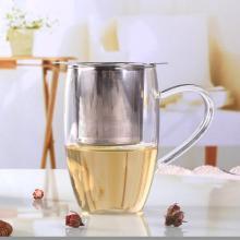 Reusable Stainless Steel Mesh Tea Infuser Binaural Tea Leak Strainer Teapot Tea Leaf Spice Filter Drinkware Home Kitchen tools