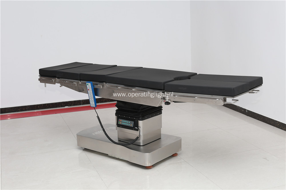 Electric hydraulic operating table optimum stability