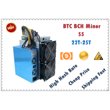 BTC BCH Miner S5 25T±10% 2100W+7% With PSU Economic Than Antminer S9 S9j S9k S15 S17 T9+ T17 WhatsMiner M3X M21S EBIT