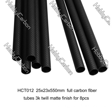 3k 25x23x550mm carbon fiber tube for Octocopter