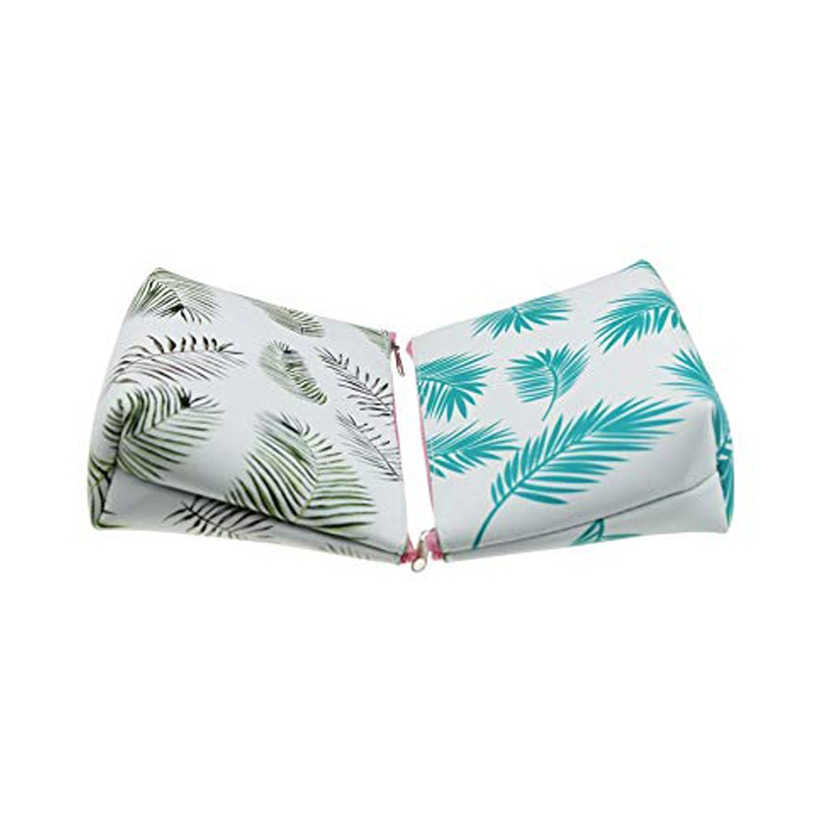 Tropical Leaf Pu Pencil Case 2