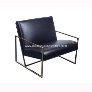 Stainless Steel Lounge Chair with Plain Seat