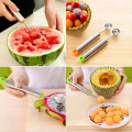 New Creative Ice Cream Dig Ball Spoon Baller of Varied Cold Dishes Tool Watermelon Melon Fruit Spoon Wood Spoon Coffee Spoon