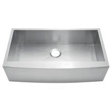 Handmade double farmhouse apron front sink
