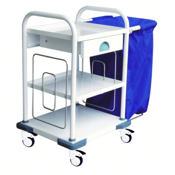 Hospital Steel Convenient Easy-optional Linen Trolley