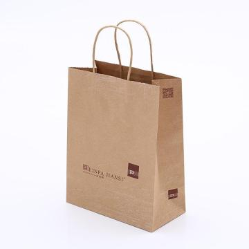 Market shopping kraft paper bags for packing vegetables