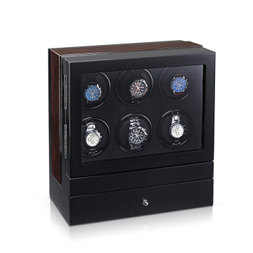 6 rotors watch winder with extra storage