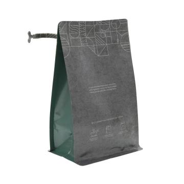biodegradable kraft empty coffee beans packing bag