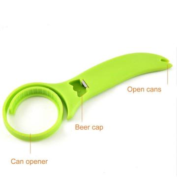 3 in 1 Adjustable Multifunction Plastic Bottle Opener