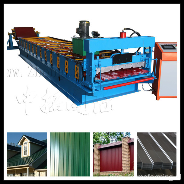 metal sheet roof panel forming machine