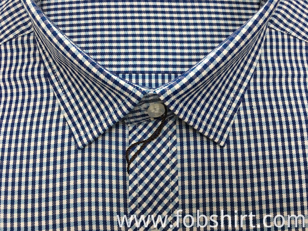 Yarn Dyed Men Shirts Cotton Formal