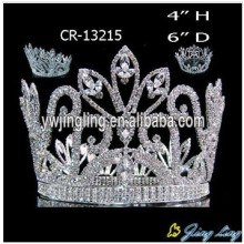 Flower Shape Full Round Beauty Queen Crowns