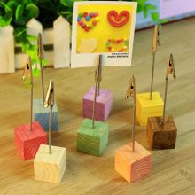 Color photo clip holder table wedding party place favor personalized gift cube stand alligator wire desk card note picture memo