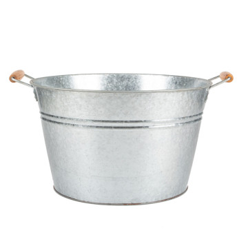 Large Galvanized Party Tub Beverage Bucket