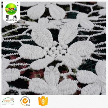 2020 polyester chemical embroidery lace fabric for dress