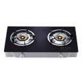 Black Tempered Glass Gas Stove 2 Burners