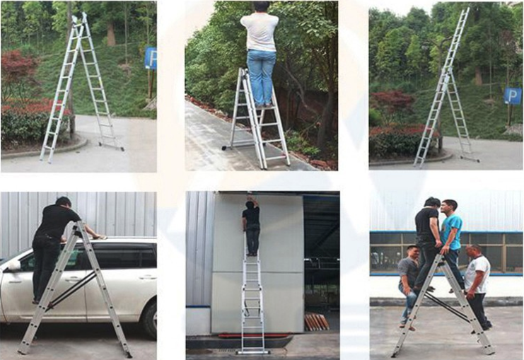 section fiberglass ladder