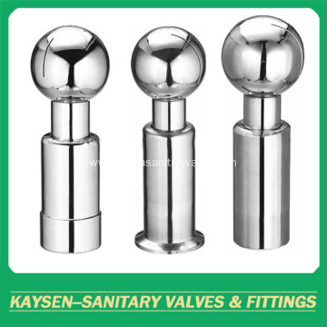 Sanitary welded 360 degree rotary cleaing ball