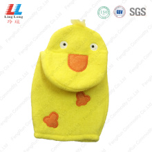 Innovative duck children bath gloves