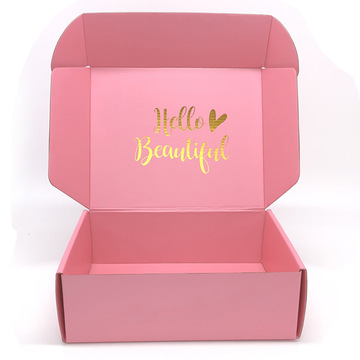 Hot sale corrugated paper pink mailer box custom gift shipping box