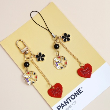 Cute Rabbit Flower Decor Strap Lanyards for iPhone Samsung Keys Mobile Phone Strap Hanging Rope Phone Charm Popular Gifts