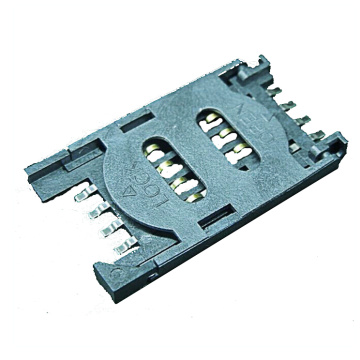 SIM CARD Plastic 6P 2.35mm With Switch Connector