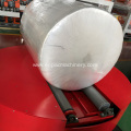Stretch Film Reel Wrapper with Top Platen