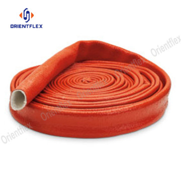 Hydraulic hose protector rubber coated fire sleeve