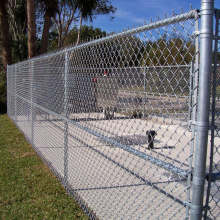 decorative chain link fence for green field protection