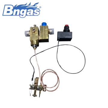 Gas big flowrate valve pulse ignition system