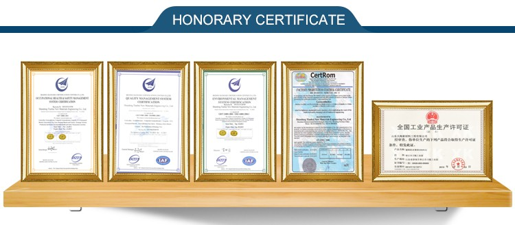 Geomembrane liners hdpe certificate