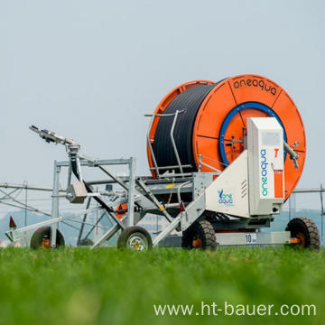 Operate Safely Agricultural Sprinkler Hose Reel Irrigation