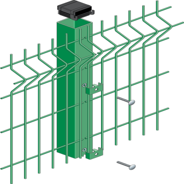 PVC coated bending wire mesh fence