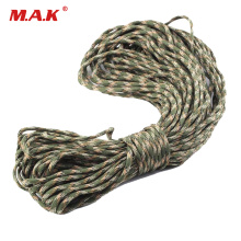 550 Paracord 8/16/32m Parachute Cord Lanyard III 7 Strand Core of Mixed Color for Outdoor Camping Climbing