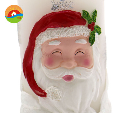 santa claus funny decorated craft art led candle