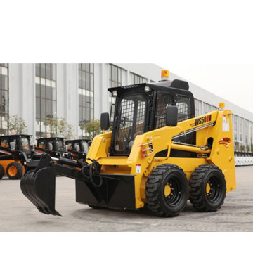 Small articulated skid steer track loader