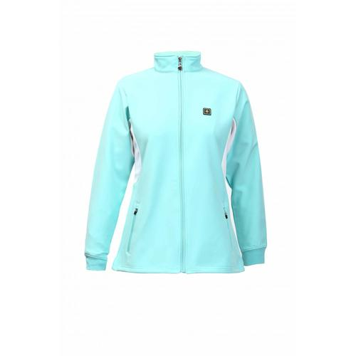 LADIES POLY LONG SLEEVE ZIP TOPS