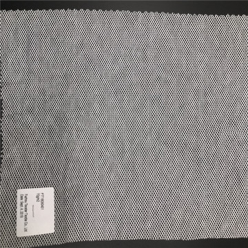White Polyester Cotton Hexagon Mesh Tulle fabric