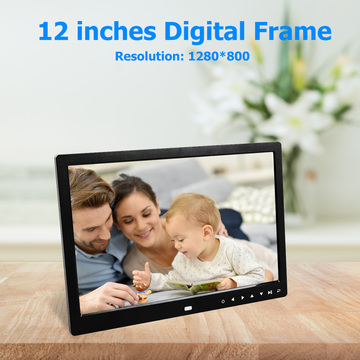 VODOOL 12 inch HD Digital Photo Frame 1280 x 800 Touch Screen Smart Photo Frame Multi-Media Music Video Player Picture Holder