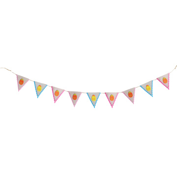Easter burlap egg pattern bunting flag