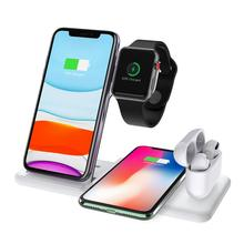 Wireless Charger Mutifunctional Wireless Charger 4 In 1 Charger For iPhone Samsung Airpods Apple Watch Fast Wireless Charger