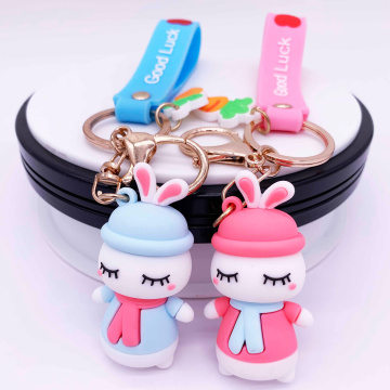 Customized Cute Rubber Girl Keychain