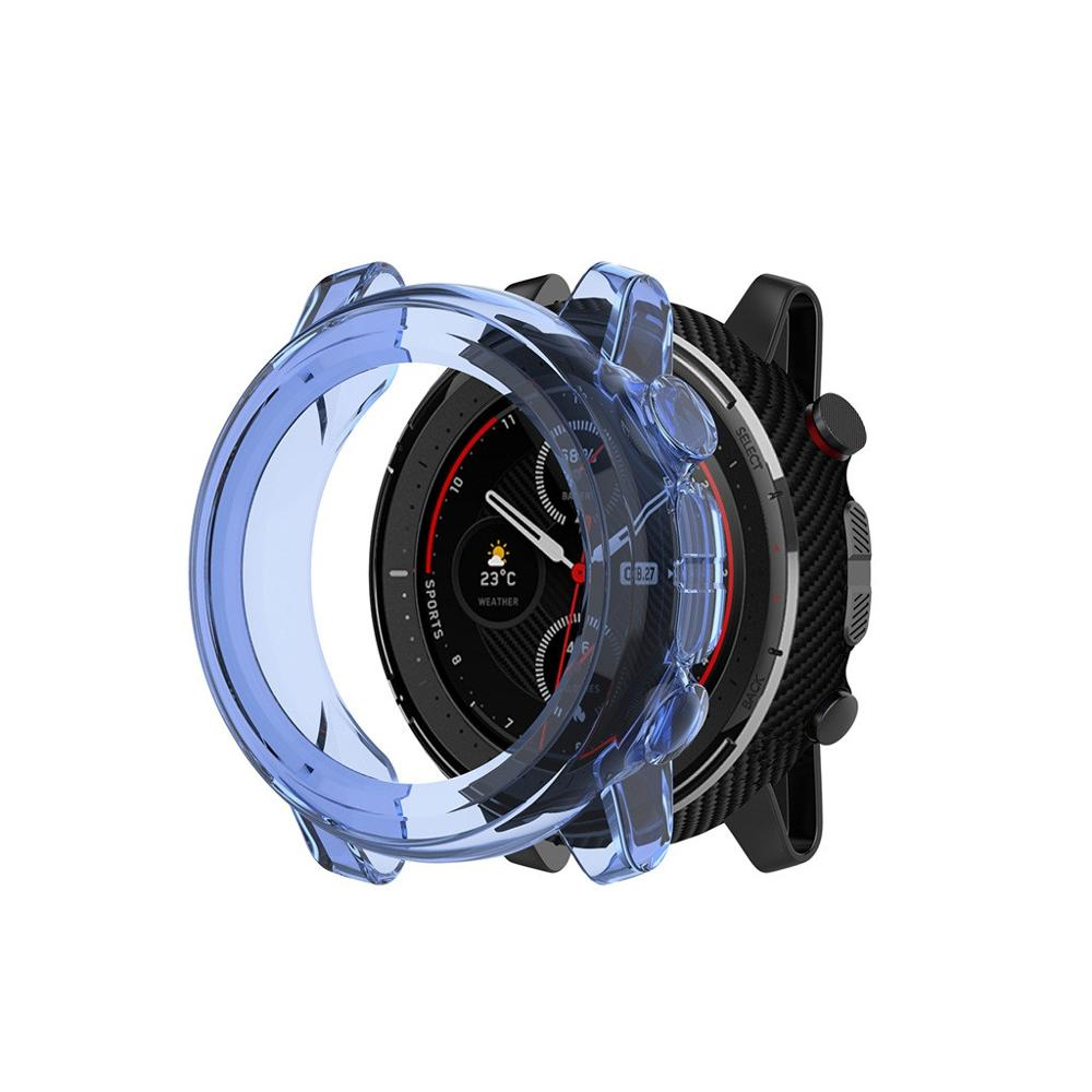 Clear TPU Protector Bumper Watch Frame Case Cover for Xiaomi Amazfit Stratos 3 Smart Watch Band Strap Accessories Stratos3