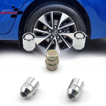 For Toyota Honda Acura US M12x1.5 Car Anti Theft Steel Wheel Lock Lug Nuts Tyre Chrome Locking Nuts 4+1 Set