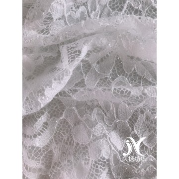 Shiny Nylon Poly Lace Knit Fabric