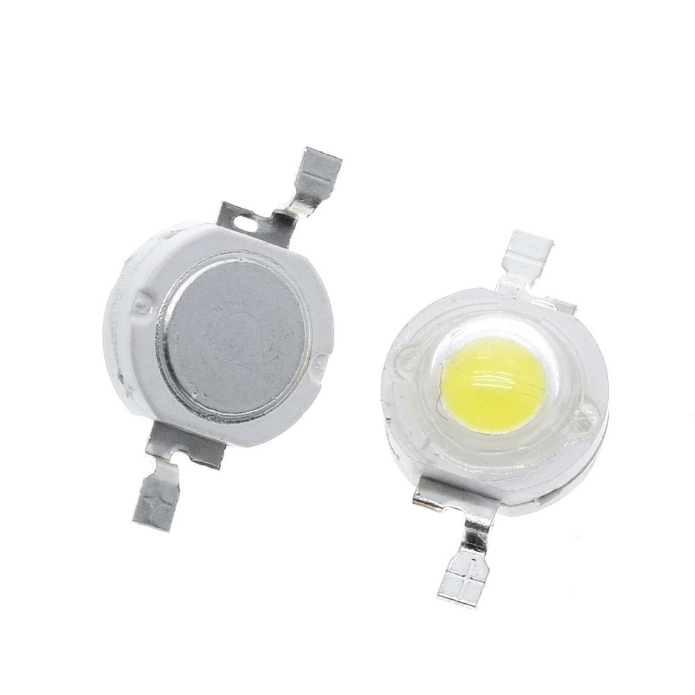 100PCS/LOT TZT led 1W 100-120LM LED Bulb IC SMD Lamp Light Daylight white/warm white High Power 1W LED Lamp bead