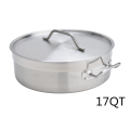 17QT Heavy Duty Stainless Steel Braiser With Lid