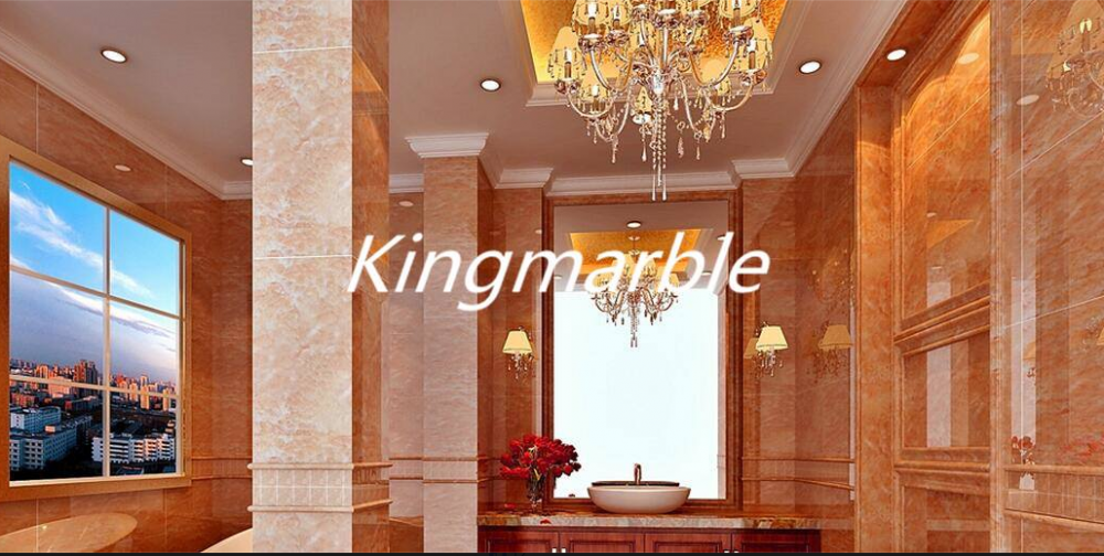 UV coating mable textured waterproof bathroom wall