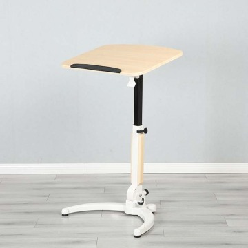 White Pneumatic Sit Stand Desk